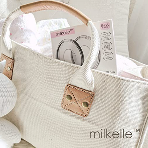Never lose another drop of breast milk with the Milkelle Breast Milk Collection Shells