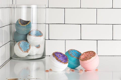 Relaxation never looked so good.  Get the Latika Soaps Geode Bath Bombs through the BeauGen Holiday Gift Guide and save.