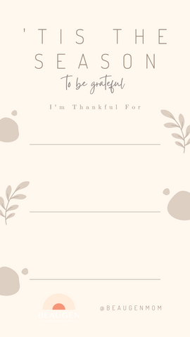 Download this free Instagram Stories Template and share what you are grateful for in 2020