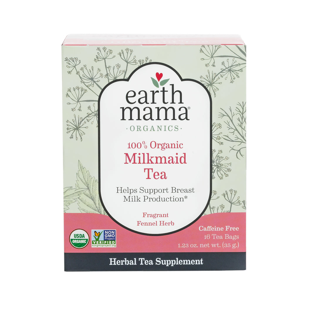 Organic Milkmaid Lactation Tea | Earth Mama Organics