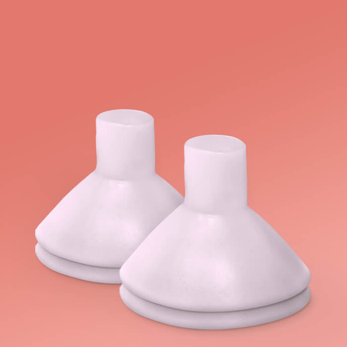 Breast Pump Cushion - 2 Pairs (fit flanges 21-27mm)