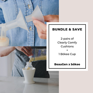 BUNDLE & SAVE: BeauGen Breast Pump Cushions + Bökee Cup