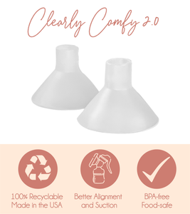 * NEW & IMPROVED * Clearly Comfy Cushions 2.0 - 2 Pairs (for a desired flange fit 19-25 mm)