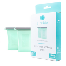 Load image into Gallery viewer, Reusable Breast Milk Storage Bags - The Journey by Junobie (2 pack)