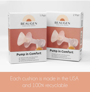 BeauGen breast pump cushions are made in the USA and 100% recyclable