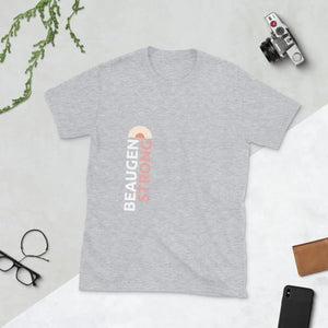 Moms need a tee that's as strong as they are. From work to play, cleaning to snuggling, get the shirt designed by moms for moms, the BeauGen Strong Shirt now in light grey.