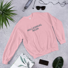 Load image into Gallery viewer, Millennial mom and proud? Get the sweatshirt that shares your status Mama! Only available through BeauGen. Available in pink!