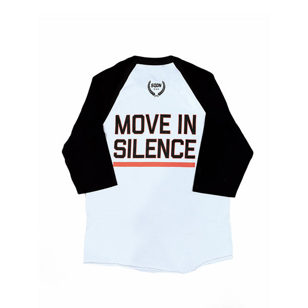 Move In Silence White Quarter-Sleeve