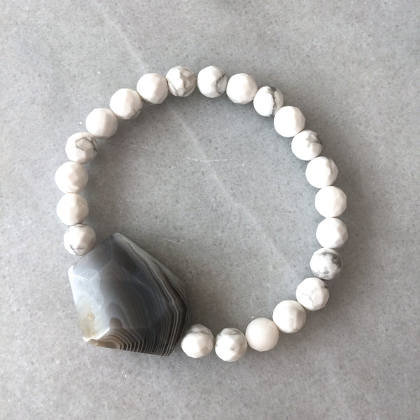 Agate and White Bracelet - Angela Arno Jewelry