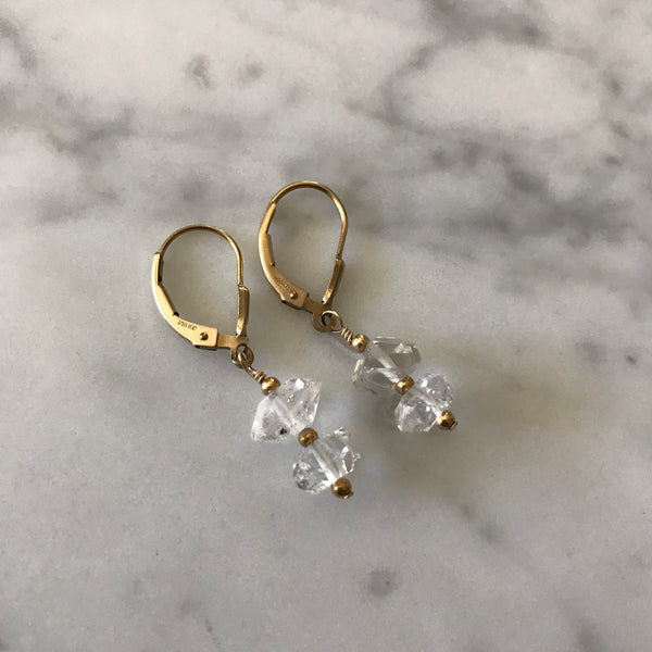 Anne - Herkimer Diamond Earrings - Angela Arno Jewelry