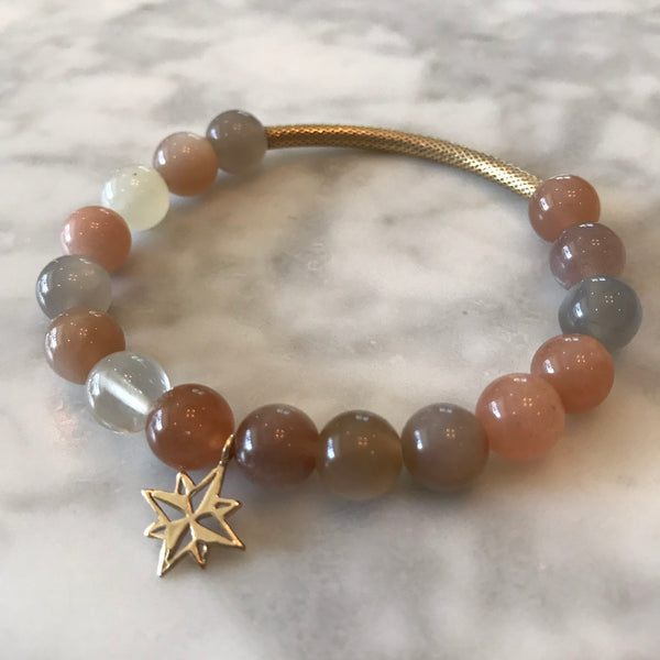 Journey - Moonstone Bracelet - Angela Arno Jewelry