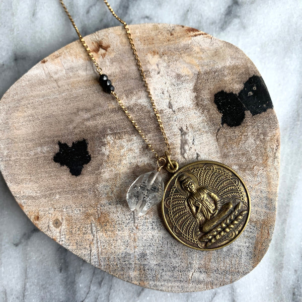 Ground and Protect Long Talisman Necklace - Angela Arno Jewelry