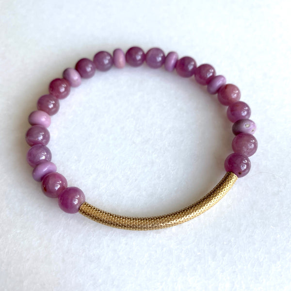 Bliss - Ruby and Phosphosiderite Bracelet - Angela Arno Jewelry