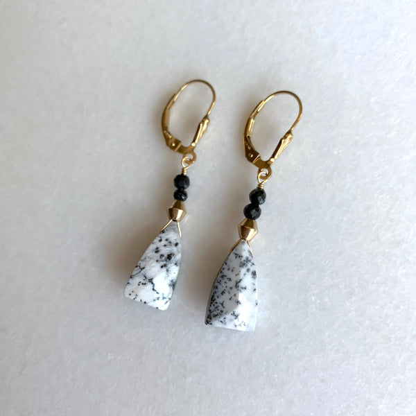 Dendritic Opal Earrings - Angela Arno Jewelry