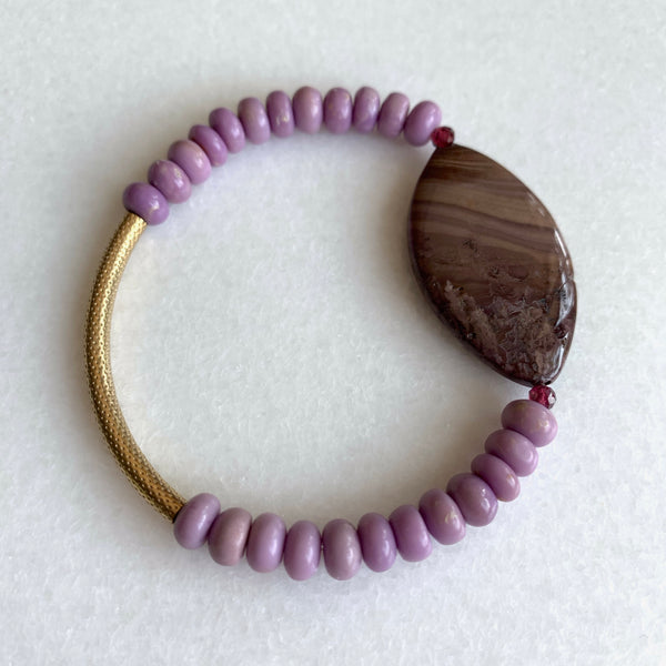 De-stress - Phosphosiderite and Jasper Bracelet - Angela Arno Jewelry