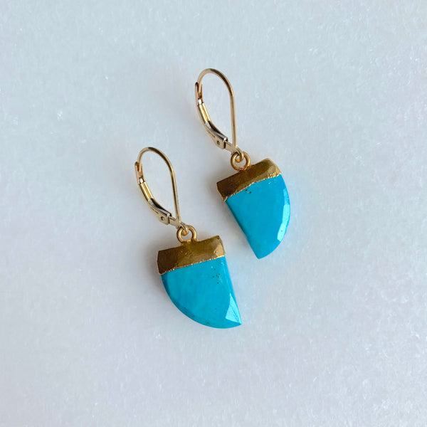 Turquoise Horn Earrings - Angela Arno Jewelry