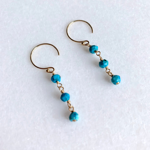 Beaded Turquoise Earrings - Angela Arno Jewelry