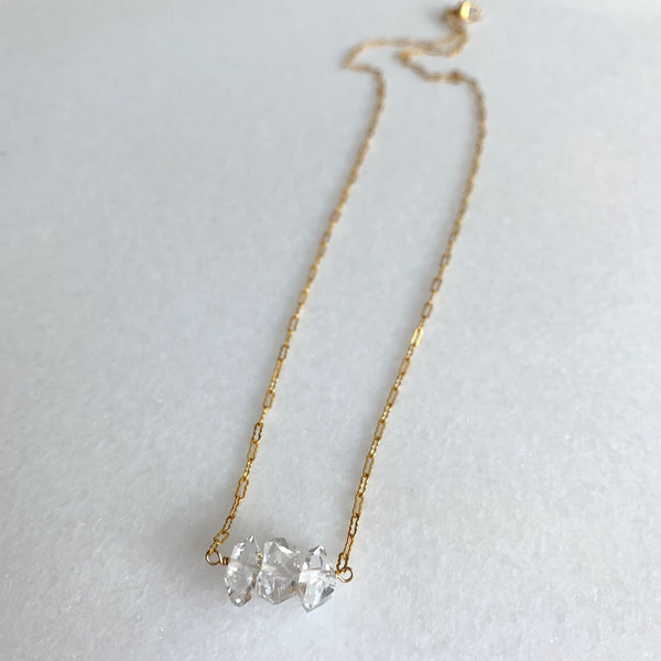The Triple Herkimer Diamond Necklace - Angela Arno Jewelry