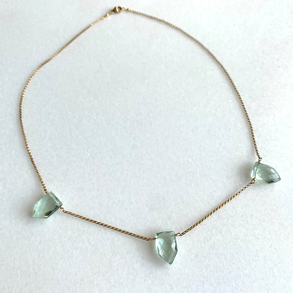 Green Amethyst Trio - Angela Arno Jewelry