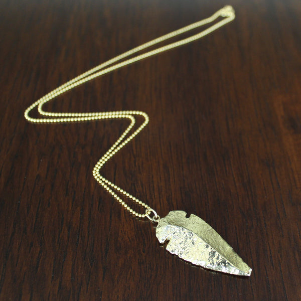 Unisex Ball-Chain Arrowhead Necklace