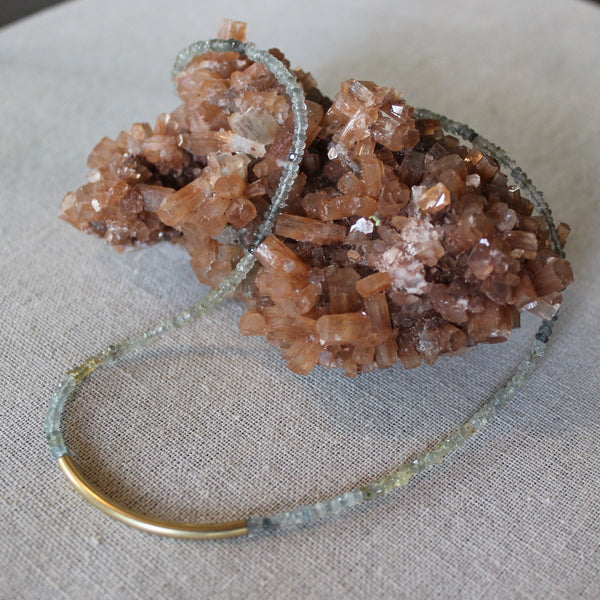Bio Moss Aquamarine Necklace - Angela Arno Jewelry