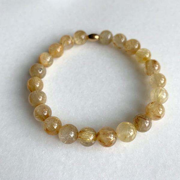Fearless - Golden Rutile Bracelet - Angela Arno Jewelry