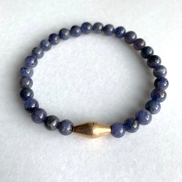 Tanzanite and Gold Bracelet - Angela Arno Jewelry