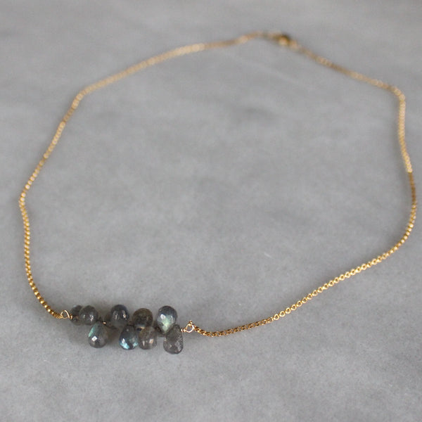 Labradorite Cluster Necklace - Angela Arno Jewelry
