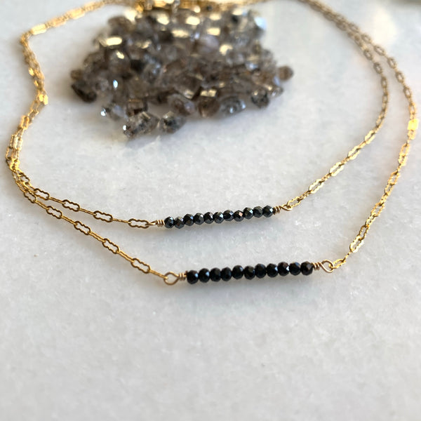 Delicate Hematite Necklace - Angela Arno Jewelry