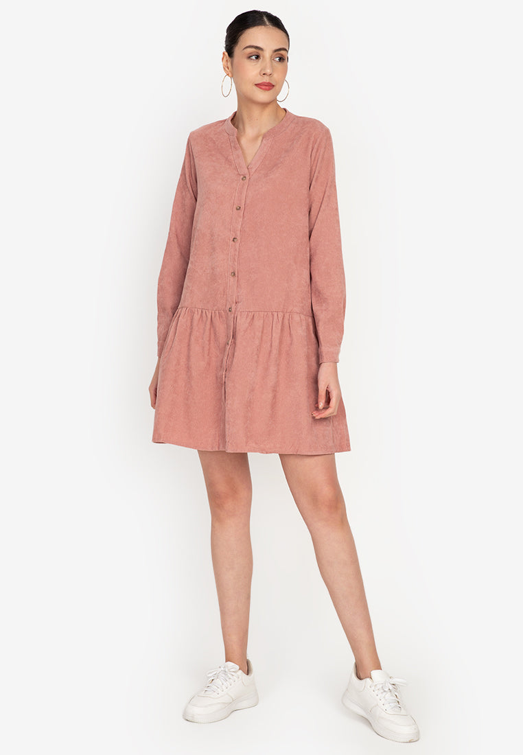 Gruel Full Button Dress