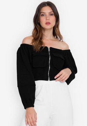 NIKITA Off Shoulder Crop Top