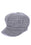 ZOE GRID BAKER BOY HAT- GRAY