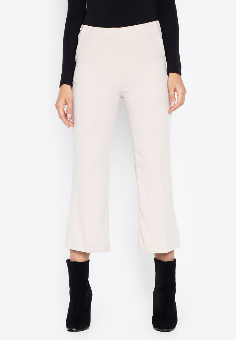 LORETTA HIGHWAIST PANTS- BEIGE - Susto The Label