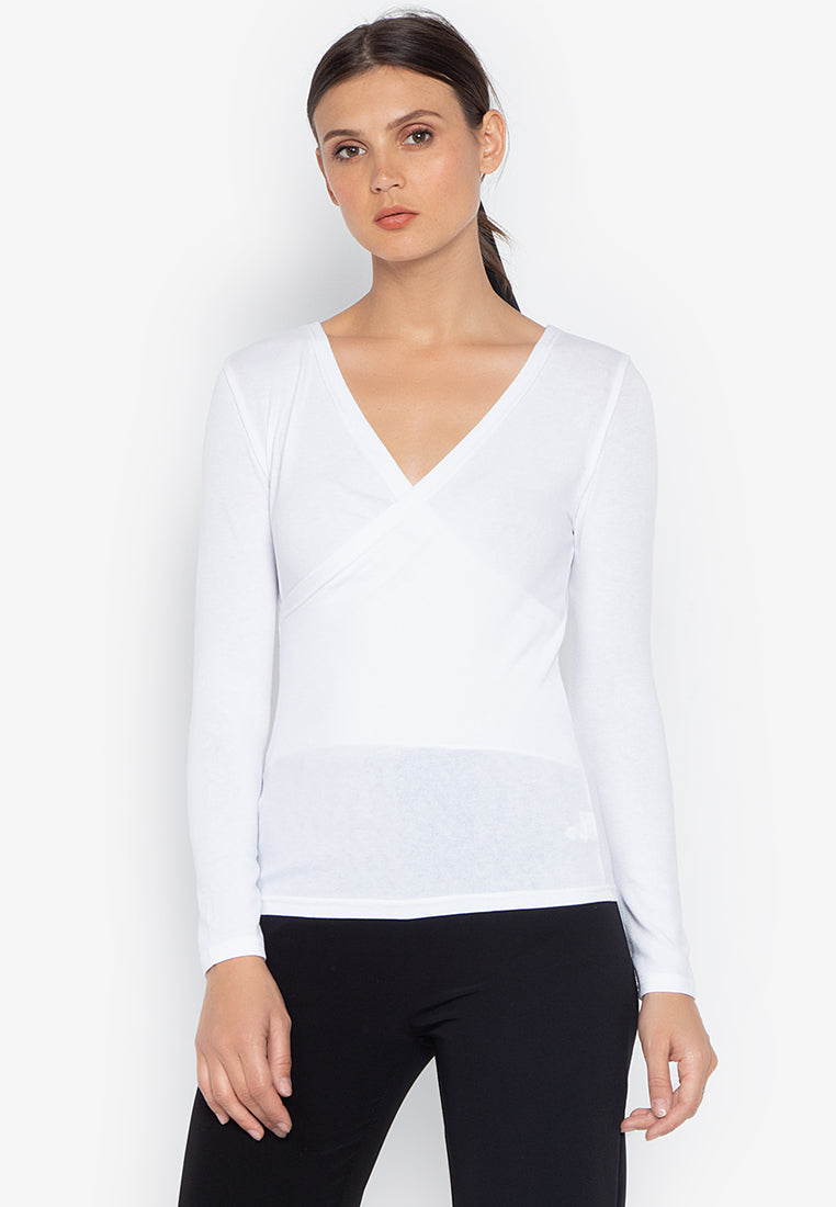 EILEEN KNIT WRAP TOP- WHITE - Susto The Label