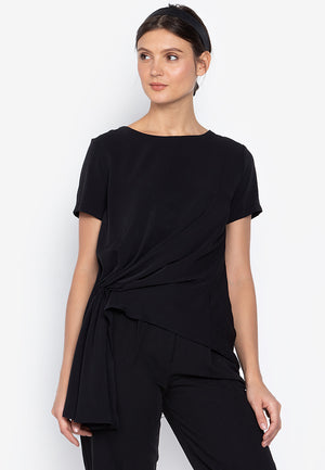 Diella Drape Short Sleeves Blouse