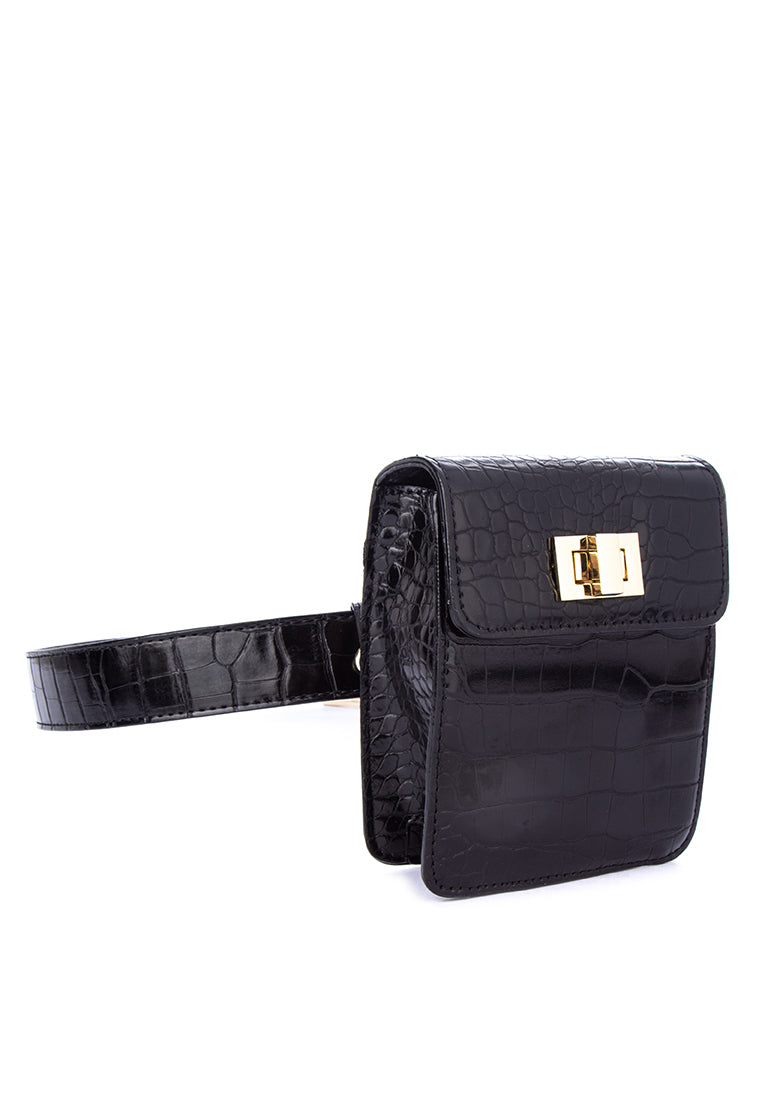LAINY BELT BAG-BLACK - Susto The Label