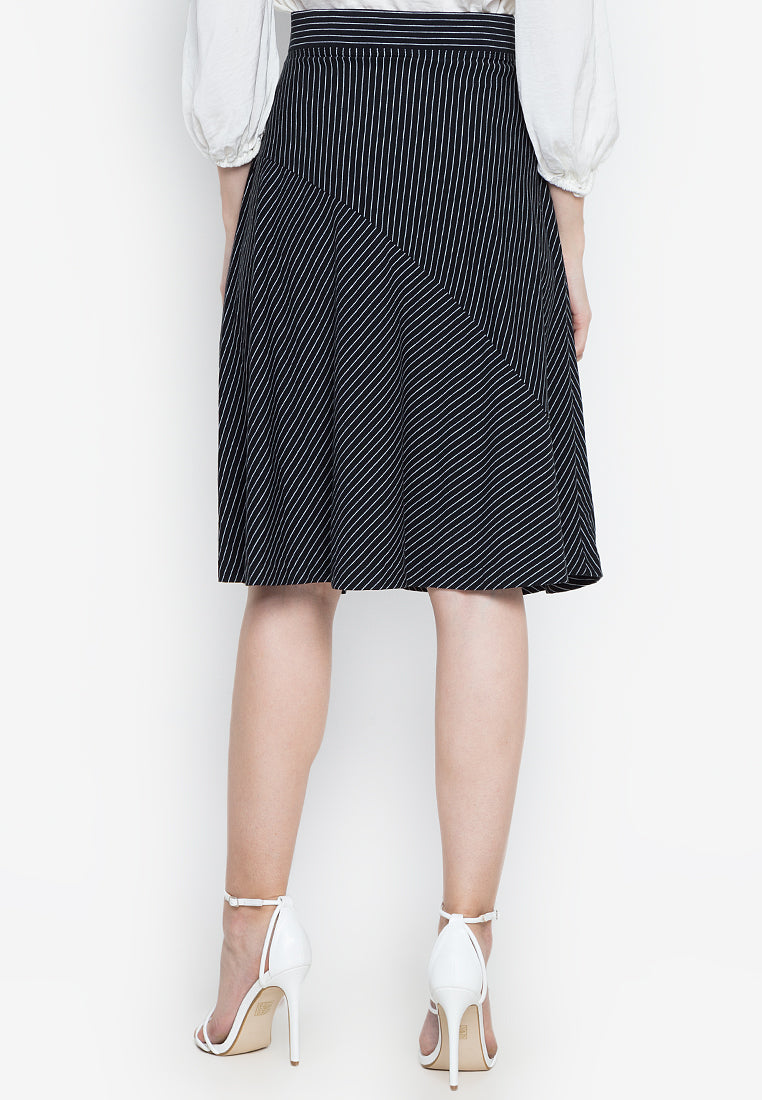 RANDA STRIPED SKIRT
