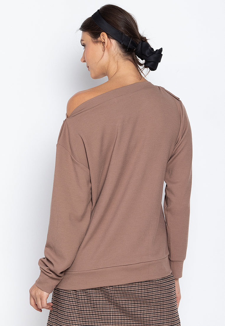 Anna Relaxed Drape Sweater