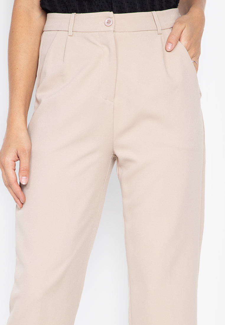 HARLEY TROUSERS- BEIGE - Susto The Label
