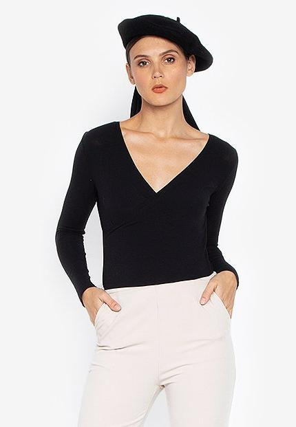 EILEEN KNIT WRAP TOP- BLACK - Susto The Label