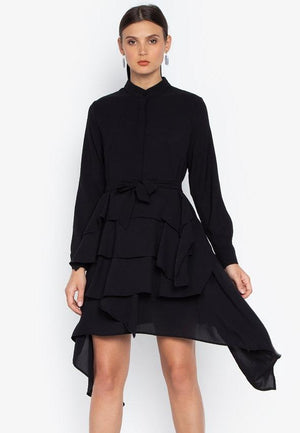 ESTHER LAYERED DRESS- BLACK - Susto The Label