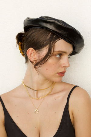Jaz Patent Leather Beret