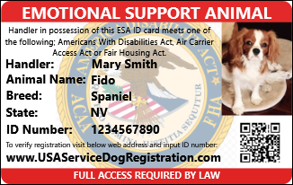 Emotional Support Animal Letter And Vest Package Usa
