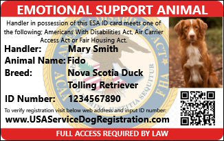 Emotional Support Animal Premium Package Includes Both