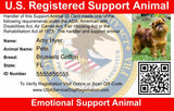 Emotional Support Animal Vest w/ Handle Basic Registration Package ($170 Value) New Item
