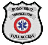 Registered Service Dog Patch (Set of Two) - USA Service Animal Registration
