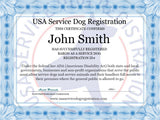 Service Dog Light Mesh Vest Basic Registration Package - USA Service Animal Registration