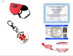 Service Dog Deluxe Registration Package - USA Service Animal Registration