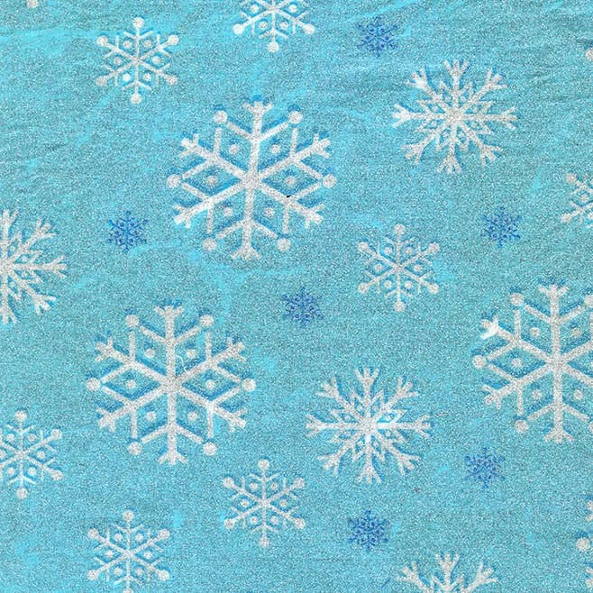 Snowfall Blizzard SPARKLE by Michael Miller - Christmas Snowflake Silver Blue -  Cotton Woven Quilt Fabric - choose your cut