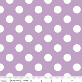 5.99 SUPER SALE Lavender and White Medium Dots by Riley Blake Designs - Light Purple Polka Dots - Quilting Cotton Fabric - by the yard